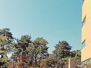 リバーウォークから見た小倉城